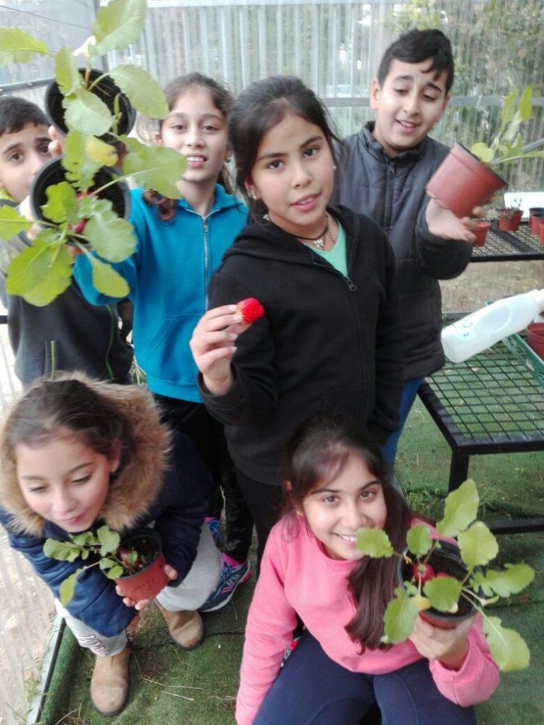 בית ספר המגנים בגינה שהקימו במסגרת תכנית גלוב צילום דוברות עיריית חולון