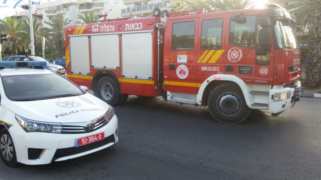 כוחות כיבוי אש באזור. צילום פרטי
