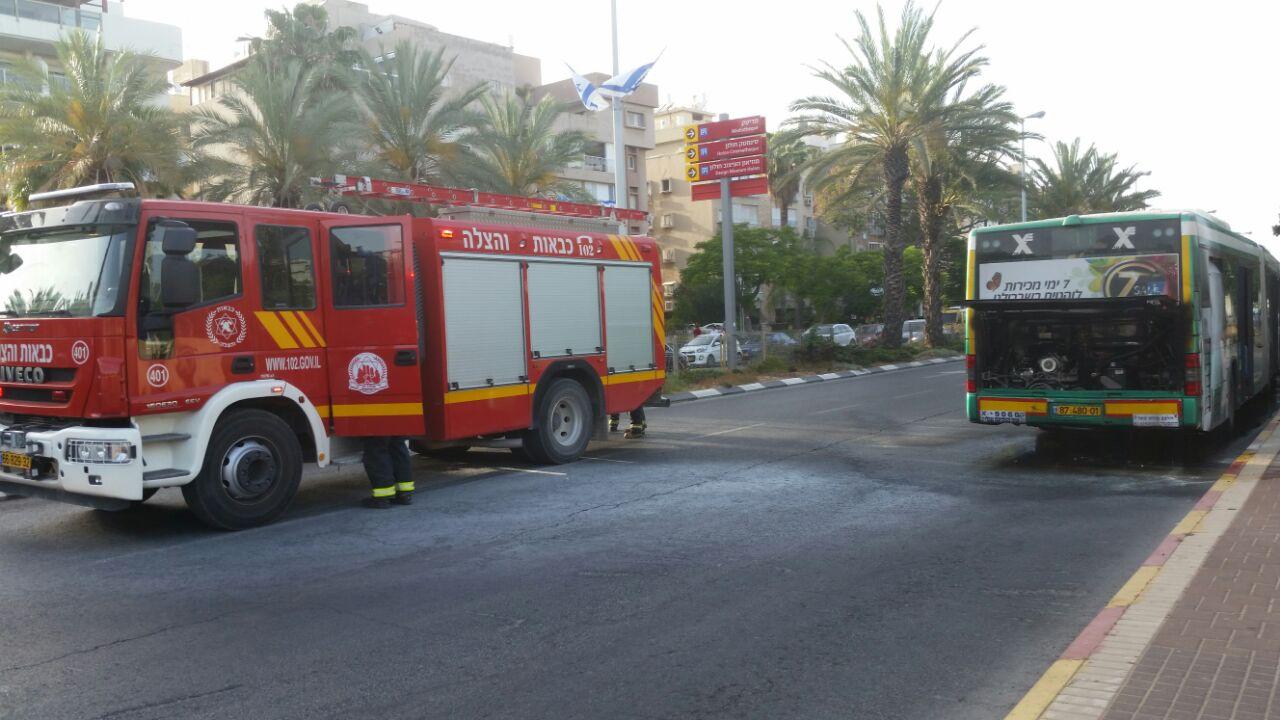 חלקו האחורי של האוטובוס נשרף. צילום פרטי