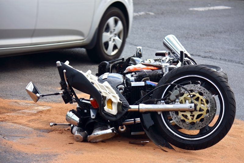 תאונת אופנוע. אילוסטרציה