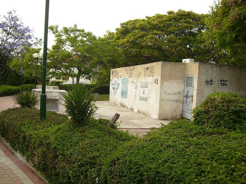 מקלט ציבורי בגן בחולון. צילום: ויקיפדיה