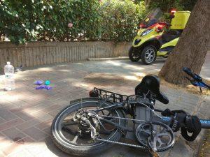 אופניו של מאיר פלשתייב במקום האירוע