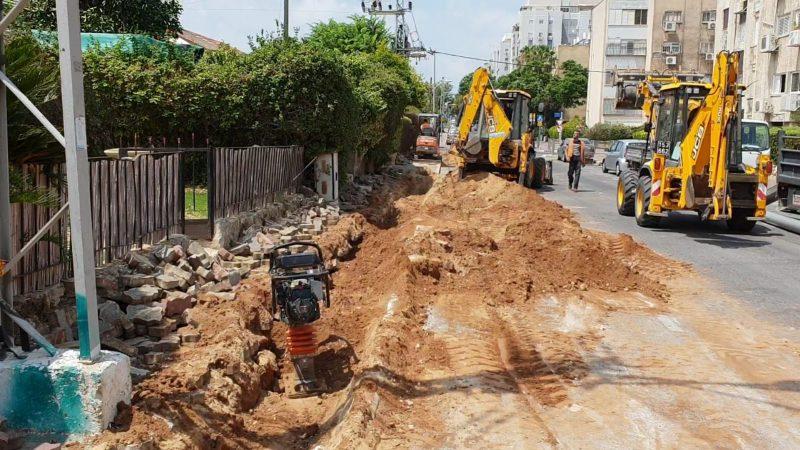"""עבודות תשתית ברחוב האצ""""ל"""