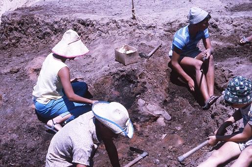 אתר החפירות בג'סי כהן, 1965. צילום: יריב שפיא