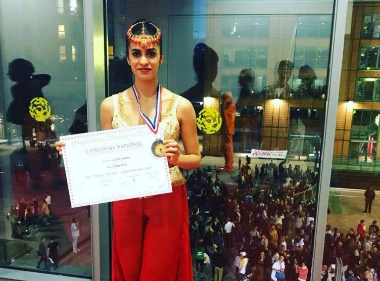 """אליה דניאל, תלמידת """"רעים"""". מקום שני בתחרות בינלאומית בצרפת. צילום יח""""צ"""