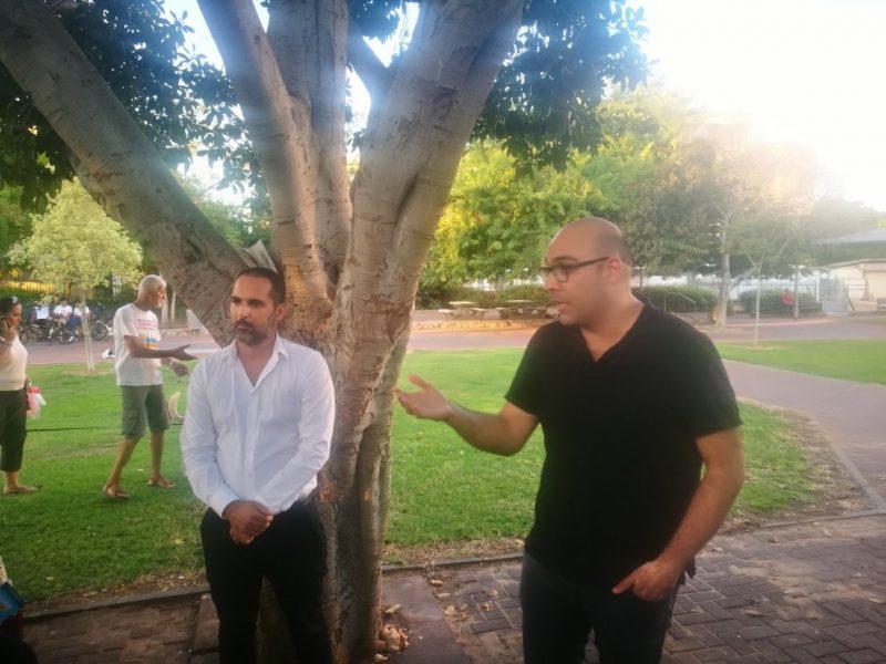 מורן ישראל ומיקאל בוזגלו במפגש