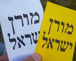 פתקי הצבעה בשני צבעים למורן ישראל