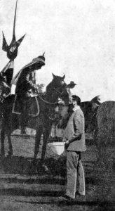 הרצל והקיסר הגרמני בפגישתם במקווה ישראל. צילום: ארכיון הציונות