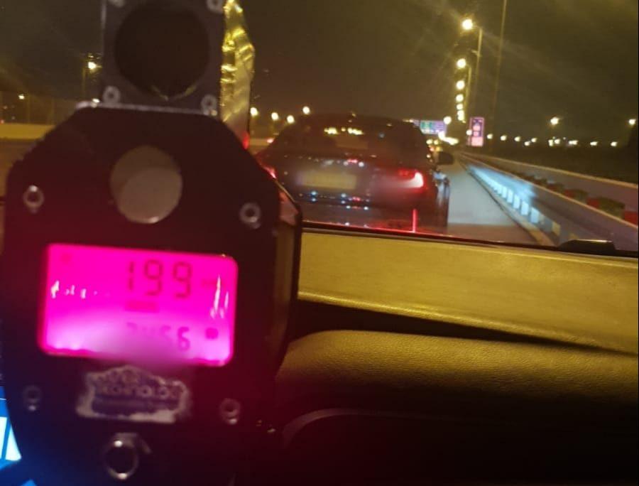 נהיגה במהירות מופרזת. צילום: דוברות המשטרה