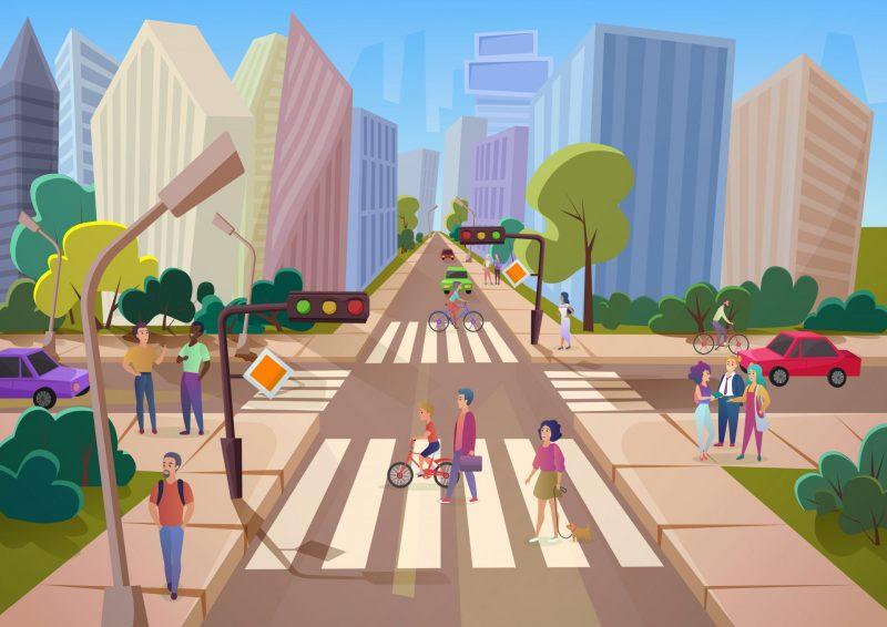 עיר, דרכים עירוניות