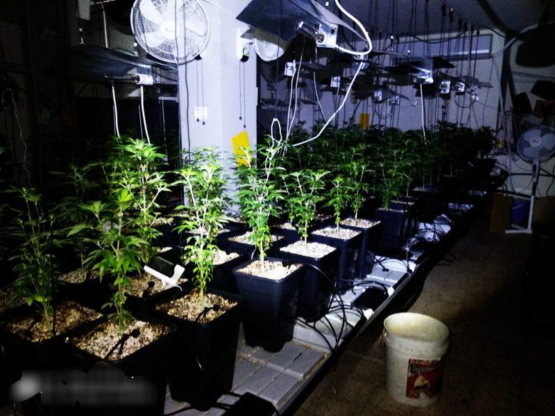 המחסן ובו מעבדת הסמים בחולון. צילום: דוברות המשטרה