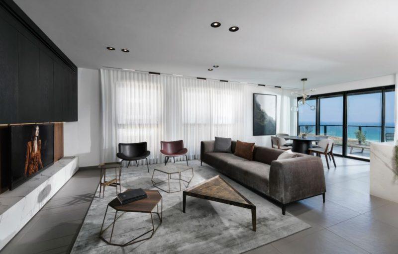 עיצוב דירה עם נוף לים בעיר בת ים. צילום: אלעד גונן