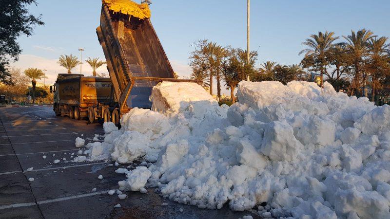 """בסוף השבוע שוב יירד שלג על חולון: הפעם ב""""מבנה"""""""