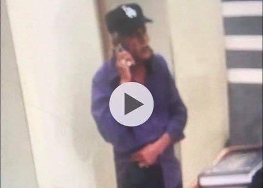 החשוד נתפס במצלמות האבטחה