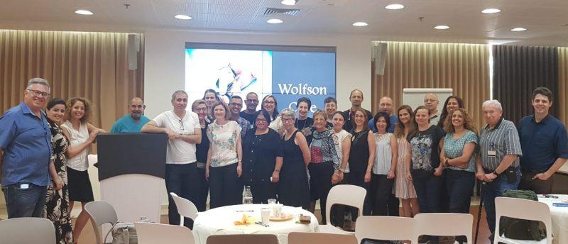 צוות מחלקת העיניים ב'וולפסון' במפגש אסטרטגי. צילום: דוברות וולפסון