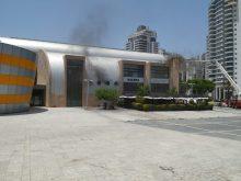 ספריית מדיטק בחולון לאחר השריפה