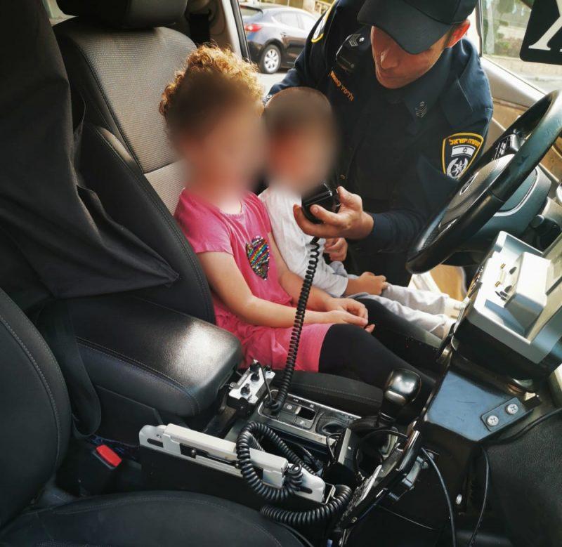 המשטרה בפעילות הסברתית לילדי הגן