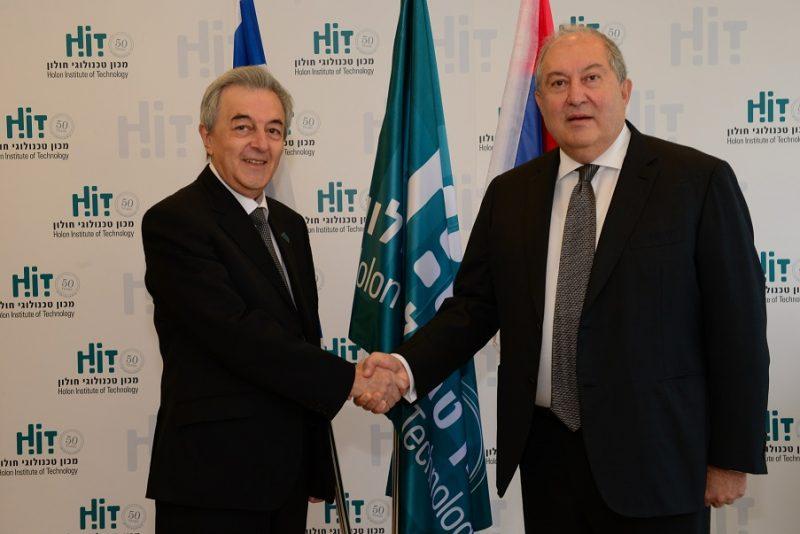 נשיא ארמניה דר סירקיסיאן ונשיא HIT אדוארד יעקובוב
