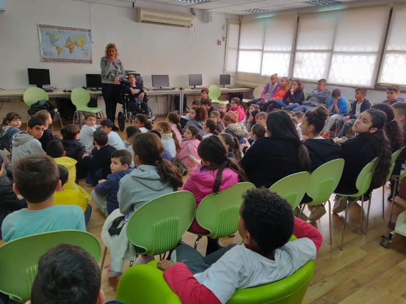 תלמידי בית הספר כצנלסון במפגש עם אופק
